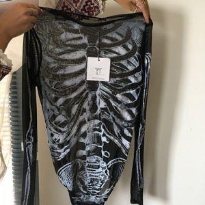 Missguided Halloween Skeleton Bodysuit